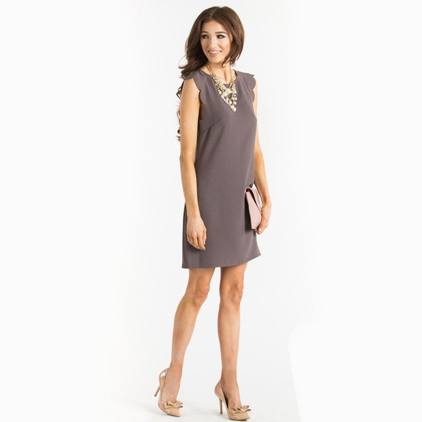Picture of Christina Black Long Sleeve Shift Dress